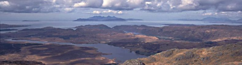 Rum and Eigg from Ben Resipol