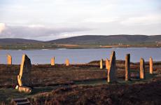 Late sun on the Ring of Brodgar